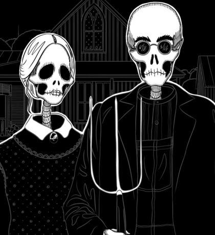 Skeleton Gothic Sticker