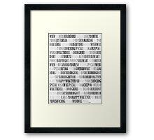 Radiohead - Creep Framed Print