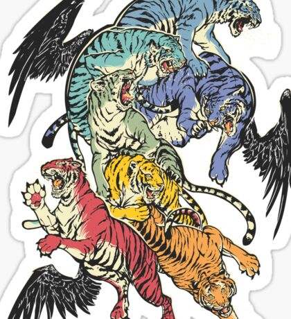 Seven Caged Tigers Sticker