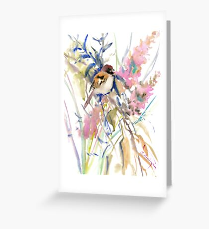 The Sparrow in the Garden Greeting Card