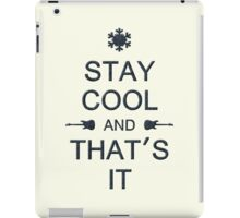 Stay Cool (black) iPad Case/Skin