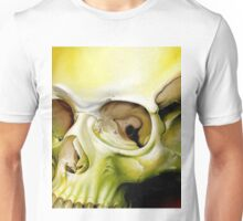 greenish yellow skull Unisex T-Shirt