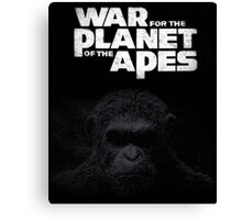 war of the planet of the apes film Canvas Print