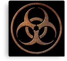 Rusty Biohazard Canvas Print