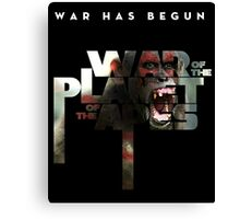 war of the planet of the apes movie Canvas Print