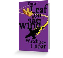 Leaf on the wind Greeting Card