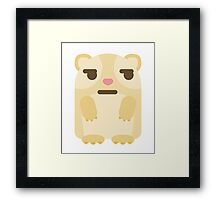 Emoji Guinea Pig Questionable Look Framed Print