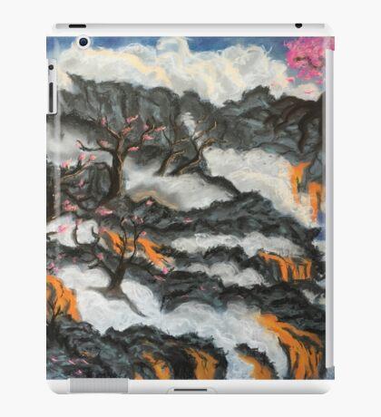 Cherry Blossom Trees in Lava Landscape iPad Case/Skin