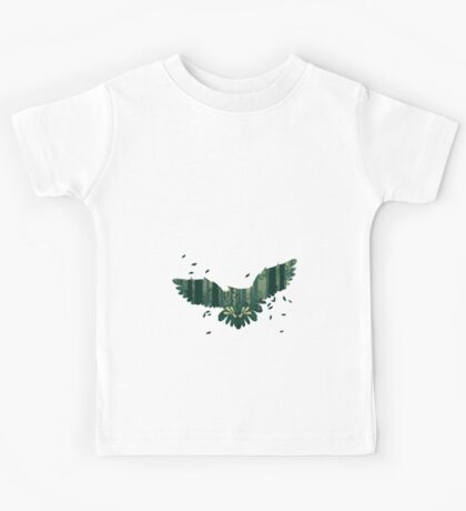 Owl and Abstract Forest Landscape 2 Kids Tee