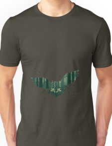 Owl and Abstract Forest Landscape 2 Unisex T-Shirt