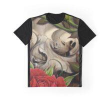 skull w roses Graphic T-Shirt