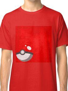 Red Pokeball Grunge  Classic T-Shirt