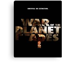 war of the planet of the apes 1 Canvas Print