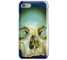 yellow blue realistic skull iPhone Case/Skin