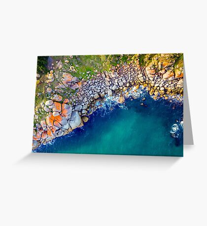 Crumbled Granite Greeting Card