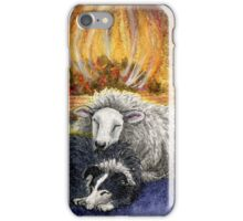 Sheepdog and Ewe 'Merry Christmas to Ewe' iPhone Case/Skin