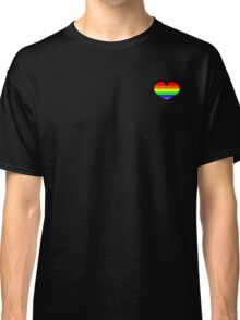 Gay pride rainbow heart  Classic T-Shirt