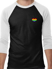 Gay pride rainbow heart  Men's Baseball ¾ T-Shirt