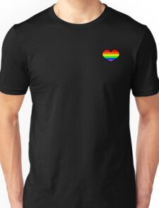 Gay pride rainbow heart  Unisex T-Shirt