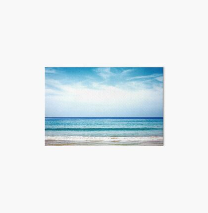 Tropical beach. Sea and coastline. Art Board