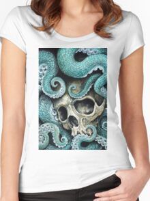 please love, don't die so far from the sea Women's Fitted Scoop T-Shirt