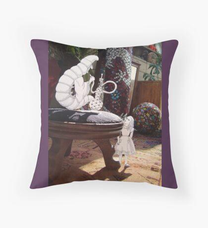 Alice and the Caterpillar Throw Pillow