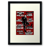 Peter Quill Quotes Framed Print
