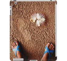 Tropical beach, legs in sand. iPad Case/Skin