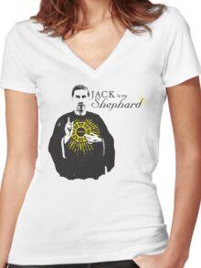 Jack Is My Shephard Women's Fitted V-Neck T-Shirt