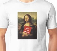 Mona Lisa Says: Keep Calm And Smile Unisex T-Shirt
