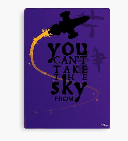 You can't take the sky from me.  Canvas Print