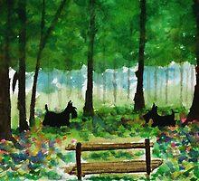 Scottie Dogs The Four Seasons 'Spring' by archyscottie