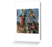 Cat and Flowerpot Greeting Card