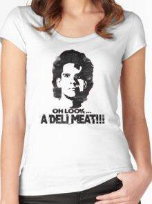 Heavyweights: Oh Look.. A Deli Meat!!! Black Women's Fitted Scoop T-Shirt