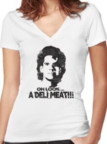 Heavyweights: Oh Look.. A Deli Meat!!! Black Women's Fitted V-Neck T-Shirt