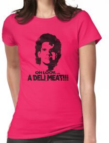 Heavyweights: Oh Look.. A Deli Meat!!! Black Womens Fitted T-Shirt
