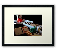 Mexican Train Dominoes Framed Print