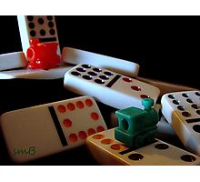 Mexican Train Dominoes Photographic Print