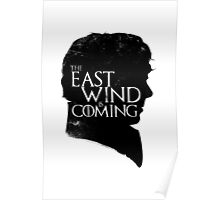 The East Wind Is Coming (Black) Poster