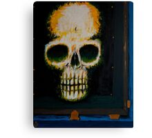 Study of Death Encased Canvas Print