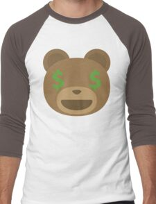 Emoji Teddy Bear Money Face Men's Baseball ¾ T-Shirt