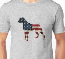 Boxer in american flag Unisex T-Shirt
