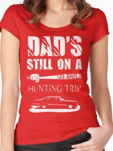 TWD/SPN - Negan/John Winchester's Hunt Trip Women's Fitted Scoop T-Shirt