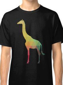 Rainbow giraffe silhouette Classic T-Shirt