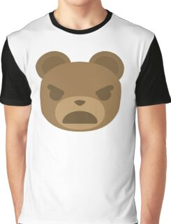 Emoji Teddy Bear Angry and Mad Look Graphic T-Shirt