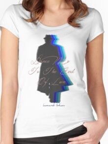 Dance Me to the End of Love, Leonard Cohen  Women's Fitted Scoop T-Shirt