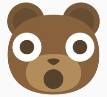 Emoji Teddy Bear Shocked and Surprised Look One Piece - Short Sleeve