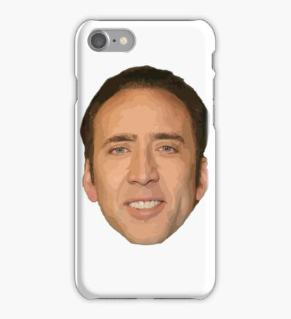 Nicholas Cage Drawing. iPhone Case/Skin