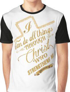 Philippians 4:13 Typography Graphic T-Shirt