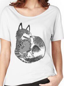 husky loves kitty Women's Relaxed Fit T-Shirt